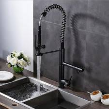 Rubbed Bronze Kitchen Faucets Led Spring Oil Rubbed Bronze Kitchen Faucet Black Pull Down Dual