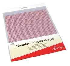 Plastic Template Sheets Amazon Com Sew Easy Template Plastic Graph Pk Of 2 Sheets 280 X