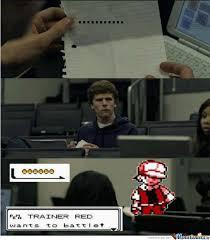 Pokemon Trainer Red Meme - pokemon trainer red by digitalkaid meme center