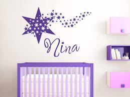 wandtattoo kinderzimmer name wandtattoo mit name für das babyzimmer wandtattoo sterne
