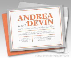wedding reception only invitations orange wedding reception only invitations