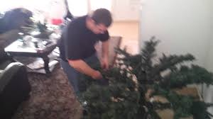 how to put up a artificial christmas tree 1 youtube