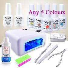 amazon com fairyglo pick any 5 colors nail starter kit soak