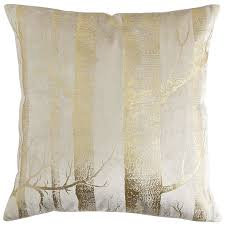 Pier One Peacock Pillow by Gold Foil Birch Trees Pillow Pier 1 Imports