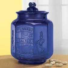 large depression style colbalt blue pennet 5 cent salted mr peanut