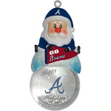 topperscot by boelter brands mlb santa snow globe ornament