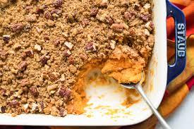 sweet potato casseroles recipes for thanksgiving sweet potato casserole recipe simplyrecipes com