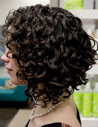 angled curly bob haircut pictures cute long angled bob hairstyles with thick curly hair and dark brown