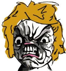 Rage Girl Meme - blonde rage super jpg