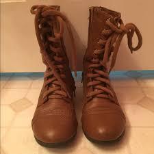 light brown combat boots shoes light brown combat boots poshmark
