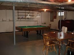 Cheap Basement Flooring Ideas Simple Unfinished Basement Floor Ideas Ceiling Paint New On Great