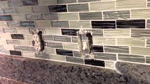 how to install glass mosaic tile backsplash in kitchen how to do receptacles in a tile backsplash youtube