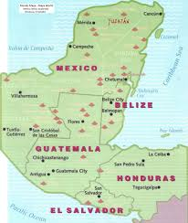 mayan empire map mexico mundo mexpeditions