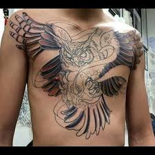 40 owl tattoos on chest thewildtattoo 2018