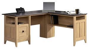 multi tiered l shaped desk desk sauder august hill l shaped desk dover oak finish sauder