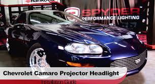 spyder auto installation 1998 2002 chevrolet camaro projector