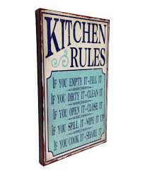 wilco home decor take a look at this wilco u0027kitchen rules u0027 wall art today signs