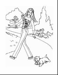 spectacular barbie dog coloring pages barbie printable