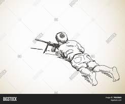 sketch boy playing war machine gun vector u0026 photo bigstock