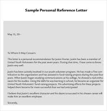 personal reference letter template 7 download documents in pdf