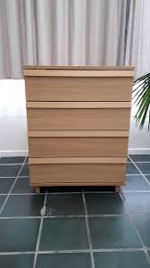 commode ikea oppland 4 tiroirs plaqué chêne u2013 luckyfind