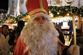 traditional swiss samichlaus santa in luzern switzerland