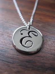 silver letter necklace pendants images 37 necklace with letter e plaza letter e necklace jpg
