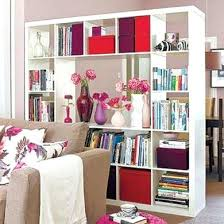White Room Divider - bookcase room dividers shelving units room divider bookcase