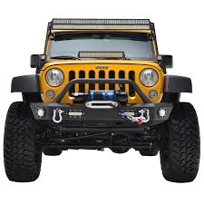 nissan frontier off road bumper 07 16 jeep wrangler jk offroad front bumper w led