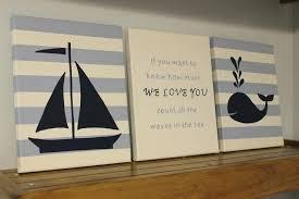 Sailboat Decor For Nursery Nautical Wall Decor For Nursery Pink Gray Nautical Nursery Theme