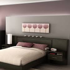 Floating Headboard With Nightstands by South Shore Furniture Gravity Queen Ebony Headboard Built In