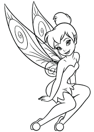 coloring pages disney tinkerbell friends shy queen