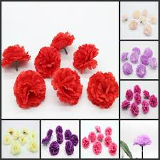 carnations flowers 100 pieces 2 4 inches artificial silk flower heads carnations