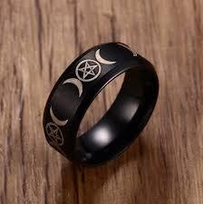 steel male rings images Men 39 s triple goddess pentacle ring for men stainless steel jpg