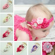 baby girl hair accessories baby girl hair accessories satin ribbon flower with lace elastic