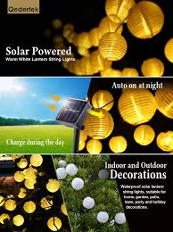 Solar Powered String Lights Patio by Amazon Com Luckled Outdoor Fairy Lantern Solar String Lights