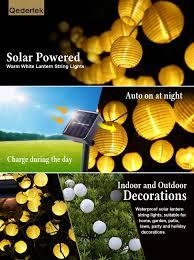 Solar String Lights For Gazebo by Amazon Com Luckled Outdoor Fairy Lantern Solar String Lights