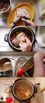 pressure cooker day after thanksgiving turkey carcass soup