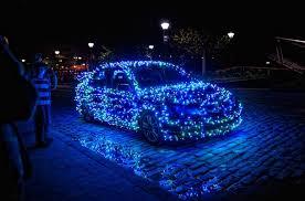 blue christmas lights fa la la la festive christmas lights on cars to brighten your