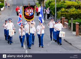 Flute Flag A Flute Band Colour Party Parading At The Ulster Covenant 100th