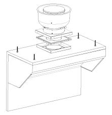 ventilation direct 6 u0027 updated design mobile kitchen hood system
