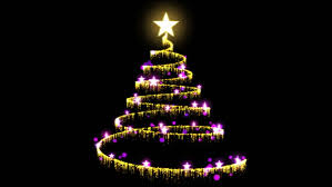 Red Gold And Purple Christmas Tree - christmas tree on red background stock footage video 2857075
