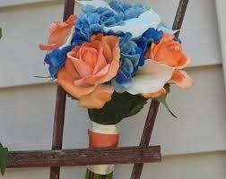 wedding flowers royal blue plum bridal bouquet silk wedding flowers radiant orchid purple