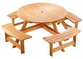 Free Octagon Picnic Table Plans And Drawings by Round Picnic Table Plans Woodworking Talk Woodworkers Forum