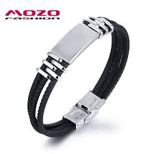 mens bracelet stainless steel rubber images Mozo fashion men 39 s bracelets stainless steel silicone bracelet jpg