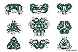 celtic knotwork circular mandalas and design set