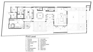 contemporary home floor plans lush gardens and peekaboo roof pool define contemporary home