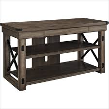 Rustic Tv Console Table Altra Furniture Wildwood Rustic Tv Console With Metal Frame