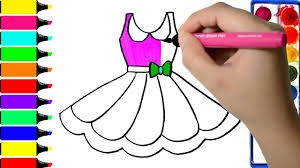 barbie dress coloring pages art colors for kids draw pretty