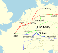 France Germany Map by File International Trains Between France And Germany Svg